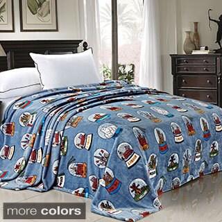 BOON Printed Cities Flannel Fleece Blanket