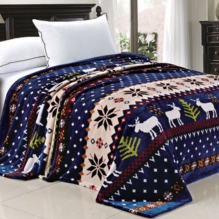 Serenta Printed Christmas Flannel Fleece Blanket