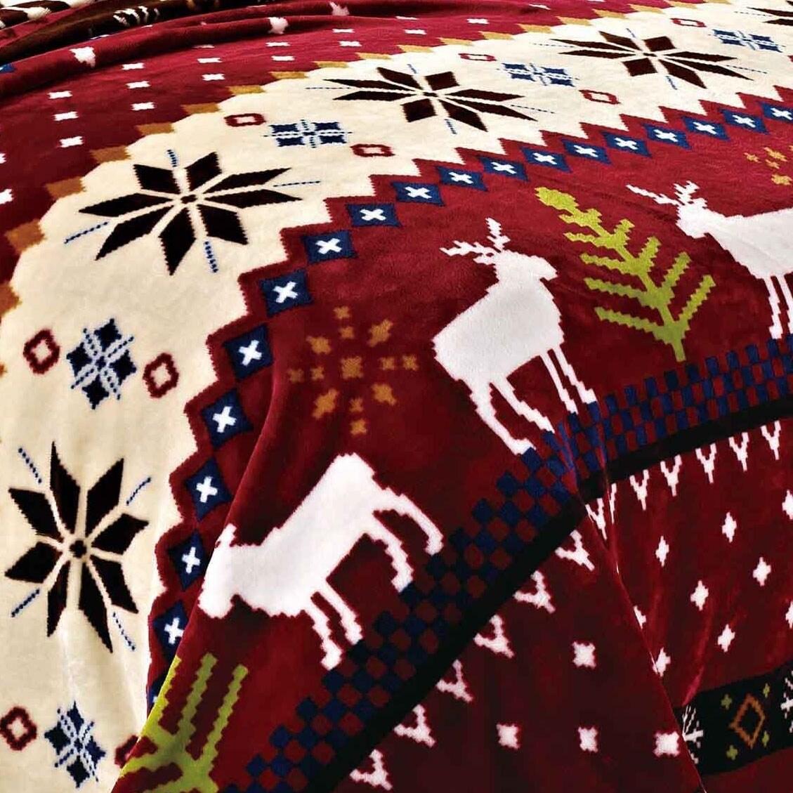 Christmas Fleece.Serenta Printed Christmas Flannel Fleece Blanket