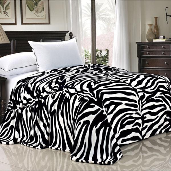 BOON Lightweight Printed Safari Animal Flannel Fleece Blanket
