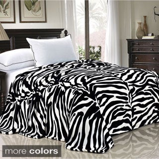 BOON Lightweight Printed Safari Animal Flannel Fleece Blanket