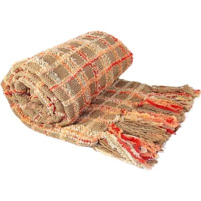 BOON Multicolor Chenille Throw Blanket
