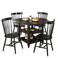 Simple Living 5-piece Tamara Dining Set with Black Table