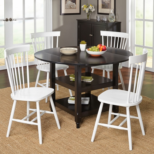 Simple Living Black And White Dining Set 3 Piece: Shop Simple Living 5-piece Tamara Dining Set With Black