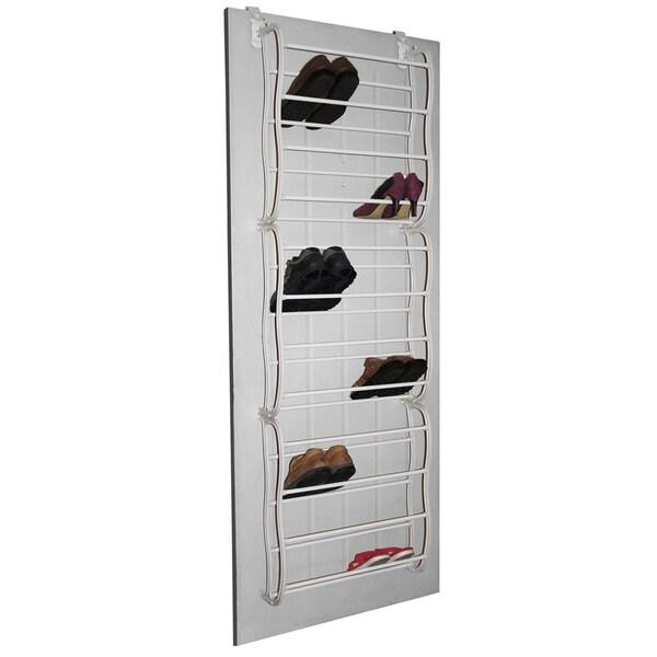 Shop Studio 707   Over The Door 36 Pair Shoe Rack   12 Tier   Free Shipping  On Orders Over $45   Overstock   10050169