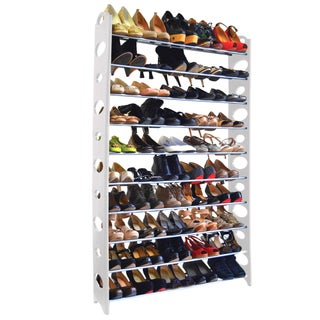 Studio 707 - 50 Pair Shoe Rack (Option: White)