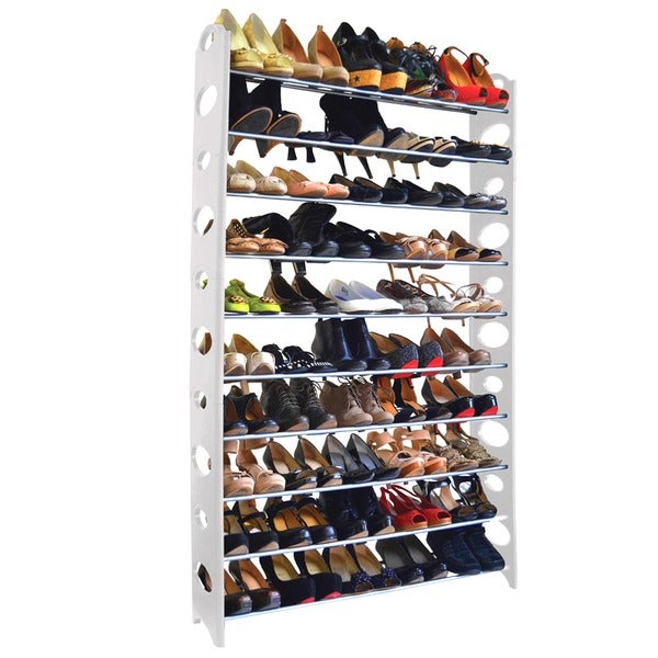 Captivating Studio 707 50 Pair Shoe Rack   Free Shipping On Orders Over $45    Overstock.com   17194479