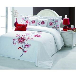 Sandra Venditti Bella 6-piece Embroidered Comforter Set