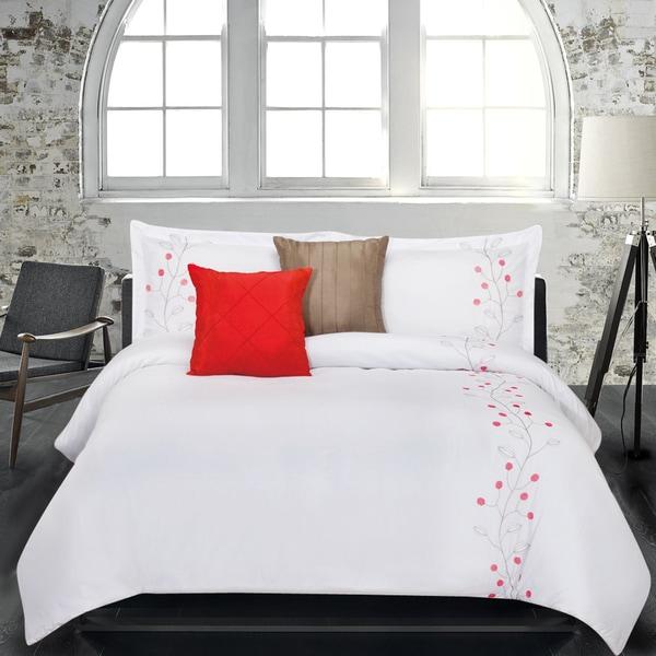 Lauren Taylor Brianne 5-piece Embroidered Microfiber Comforter Set