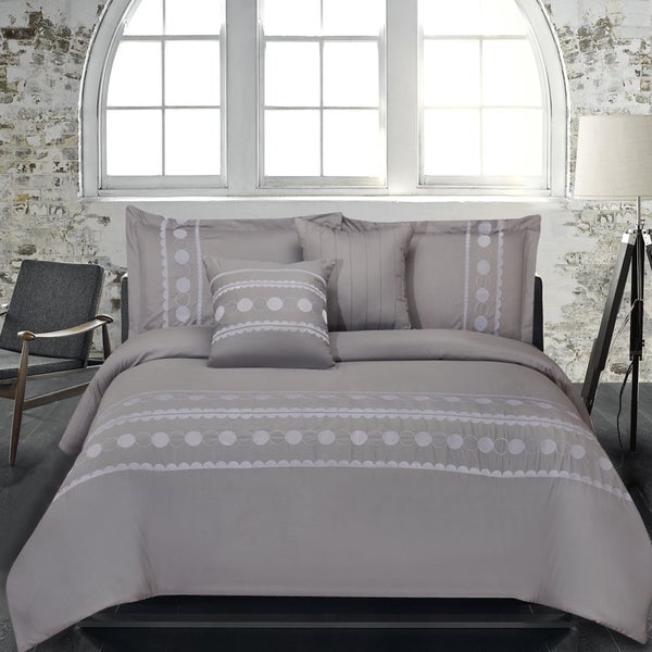 Lauren Taylor Tahalia 5-piece Embroidered Microfiber Comforter Set