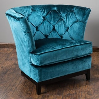 Princeville Tufted Fabric Chair by Christopher Knight Home