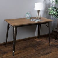 Elmton Foldable Wood Table (ONLY) by Christopher Knight Home - matte mocha - N/A