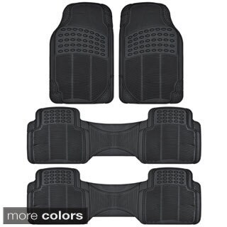 BDK Heavy Duty Universal Fit/ Trimmable Rubber Car Floor Mats (4 Pieces)