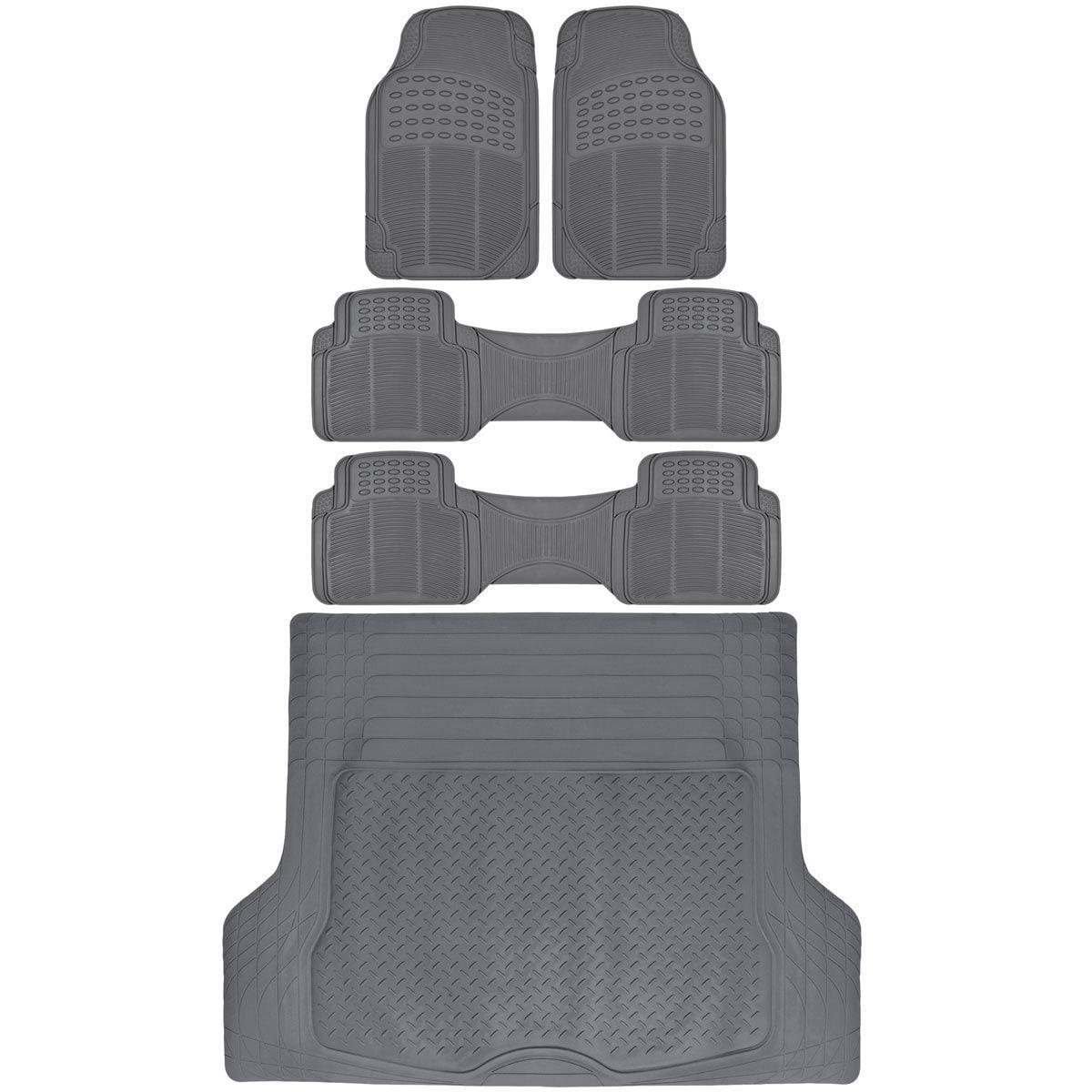 BDK 3 Row Heavy Duty Trimmable Car Floor Mats for SUV/ Va...