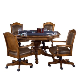 Hillsdale Nassau 5-Piece Game Set with Leather Back Game Chair