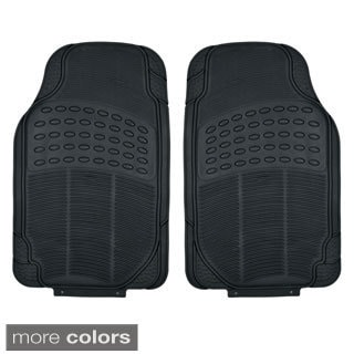 BDK Heavy Duty Universal Fit/ Trimmable Car Floor Mats (2 Pieces)