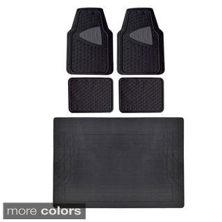 Motor Trend BPA Free Odorless Heavy Duty Car Floor Mats with Cargo Liner (5 Pieces)