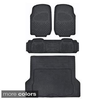 Motor Trend Odorless Heavy Duty Car Floor Mats (4 Pieces)