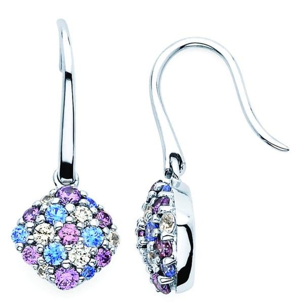 b803fb910 Shop Lotopia 925 Sterling Silver Swarovski Zirconia Ocean Blue Drop Earrings  - Free Shipping Today - Overstock - 10050304