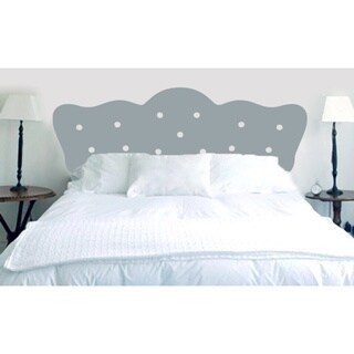 Button Headboard Wall Decal (King Size)