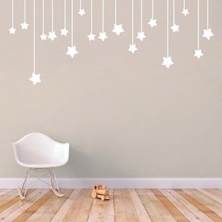 Link to Hanging Stars' 56 x 22.5-inch Large Vinyl Wall Decal Similar Items in Vinyl Wall Art