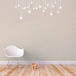 Hanging Stars' 32 x 13-inch Small Vinyl Wall Decal