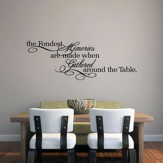 The Fondest Memories 45 X 16 Inch Kitchen Wall Decal