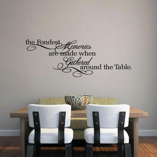 The Fondest Memoriesu0027 45 X 16 Inch Kitchen Wall Decal