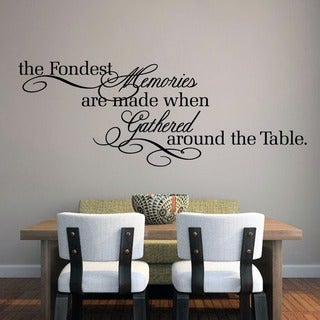 the fondest memories 60 x 22 inch large wall decal - Wall Vinyl Designs
