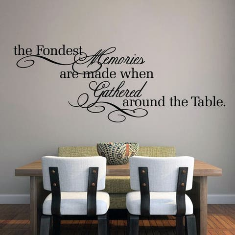 """The Fondest Memories Kitchen Wall Decal - 60"""" x 22"""""""