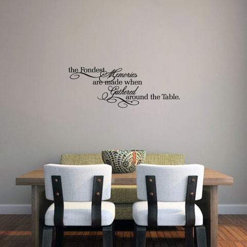The Fondest Memories 30 x 11-inch Kitchen Wall Decal