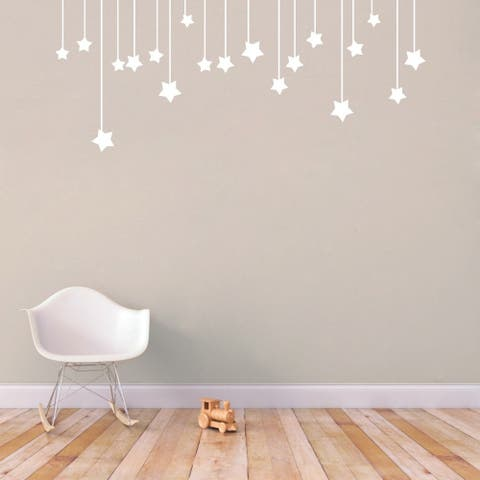 Hanging Stars' 44 x 18-inch Medium Wall Decals