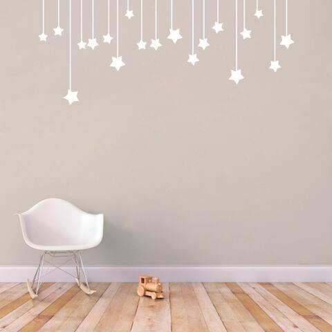 Hanging Stars' 44 x 18-inch Medium Wall Decals