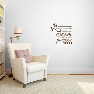 Wake up with a Purpose' Bedroom Wall Decal (2' x 1'9)