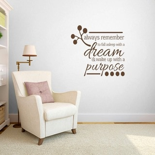 Wake up with a Purpose' Bedroom Wall Decal (3' x 2'10)