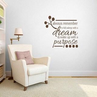Wake Up With A Purposeu0027 Bedroom Wall Decal (3u0027 ...