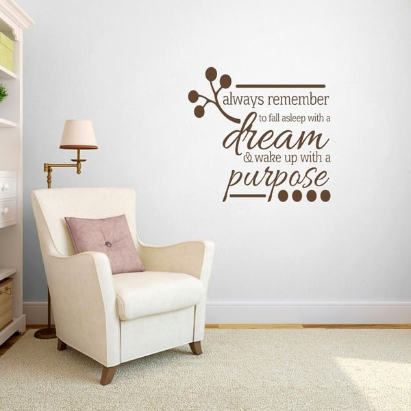 Wake up with a Purpose\' Bedroom Wall Decal (3\' x 2\'10)