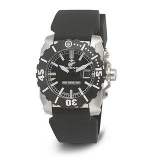 Wrist Armor Men's WA128 U.S. Marine Corps C2 Black Silicone Strap Watch