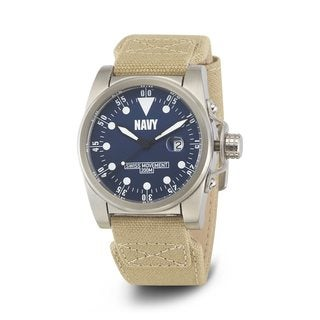 Wrist Armor Men's WA412 U.S. Navy C1 Beige Strap Watch