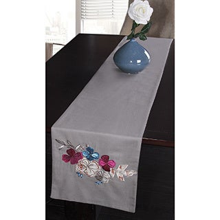 Jovi Home Navio Hand-Embroidered Table Runner