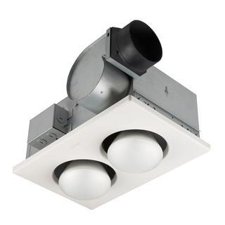 Broan 70 CFM Ceiling Exhaust Fan with 500 Watt 2-Bulb Infrared Heater