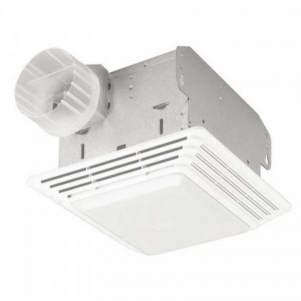 Shop Broan Nutone 50 Cfm Ceiling Eco Exhaust Bath Fan With Light