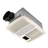 Broan NuTone Ultra Silent 110 CFM Ceiling Bath Fan with Light and Heater QTX110HL