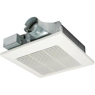 WhisperValue 80 CFM Ceiling or Wall Super Low Profile Exhaust Bath Fan ENERGY STAR*