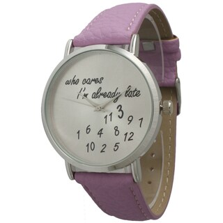 Olivia Pratt Already Late Leather Band Watch (3 options available)