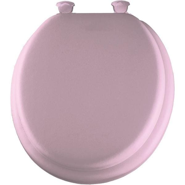 Shop Bemis Soft Round Closed Front Pink Toilet Seat Free