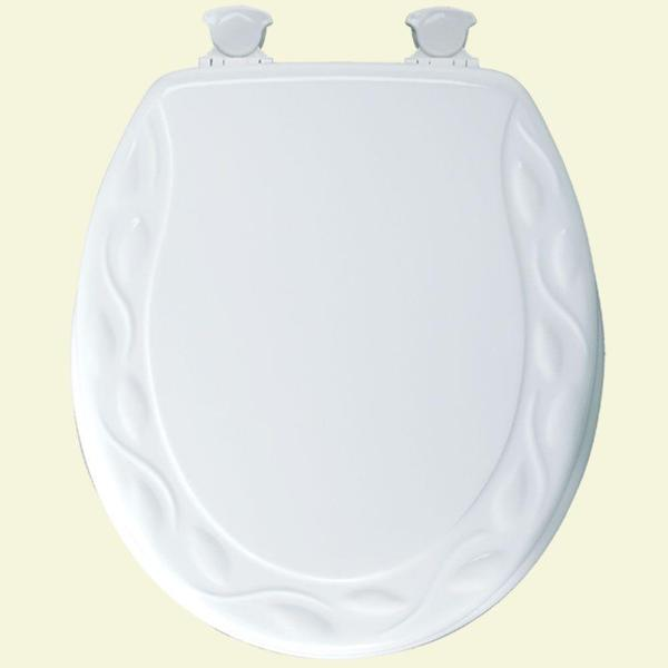 Bemis Round Closed Front White Toilet Seat