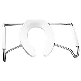 Medic-Aid STA-TITE Round Open Front White Toilet Seat with Arms