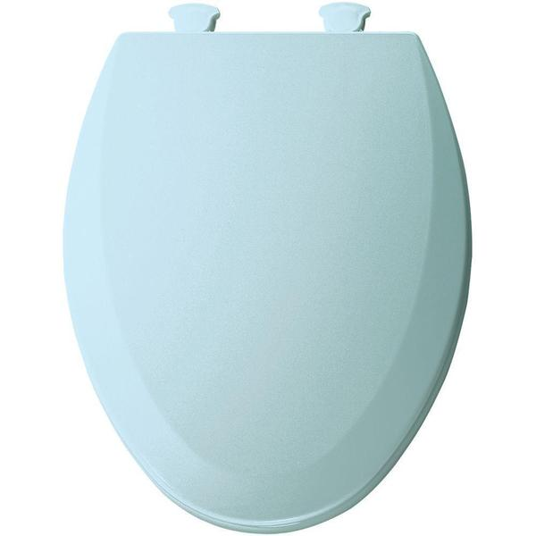 Closed Front Toilet Seat Lift Off Elongated Bumper Hinge Bathroom Cotton White