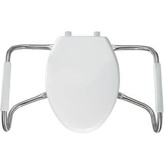 Medic-Aid STA-TITE Elongated Closed Front White Toilet Seat